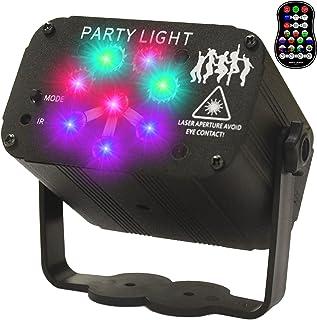 Goyappin 派对灯 DJ 迪斯科灯 无线 LED 声控 RGB 投影仪 激光灯舞台灯 带遥控器 定时可充电电池 酒吧卡拉OK生日装饰灯