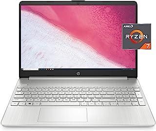 HP 惠普 15 英寸高清笔记本电脑,AMD Ryzen 7 3700U 处理器,8 GB 内存,256 GB SSD,Windows 10 家庭版(15-ef0022nr,自然银色)