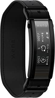Sony 索尼 SONY wena 智能手表 电子货车 搭载Alexa运动量计 支持iOS/Android wena 3 leather Premium Black WNW-C21A/B