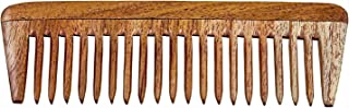 手工天然毛边木发梳 Wide Tooth Comb