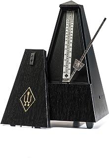 Wittner Taktell 金字塔形状节拍器塑料外壳无钟,黑色