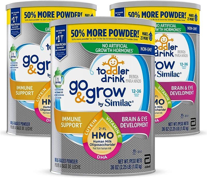 Similac 美版雅培 Go & Grow 心美力 含2′-FL HMO 3段婴幼儿配方奶粉 1.02kg*3罐 镇店之宝¥394.97