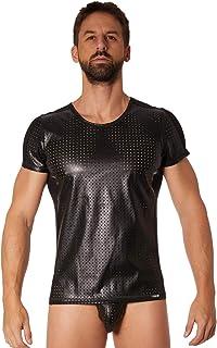 Look Me T 恤,人造革,精细打破