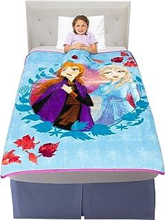 "Franco 儿童床上用品 柔软毛绒超细纤维 Disney 冰雪奇缘 2 46"" x 60"" AT0458"