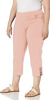 SLIM-SATION 女式加大码纯色七分裤
