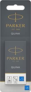 PARKER 派克 Quink 钢笔替芯,长墨囊水洗蓝墨水,5件吸塑装