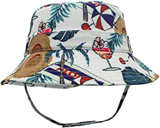 QingFang 儿童 UPF 50+ 桶状太阳帽防紫外线帽夏季沙滩玩耍帽