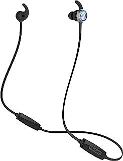 Wearhaus Beam 无线蓝牙共享耳塞,HiFi 低音立体声入耳式防汗运动耳机带麦克风,变色LED灯,轻质保护套适用于健身房跑步游戏旅行工作(黑色)