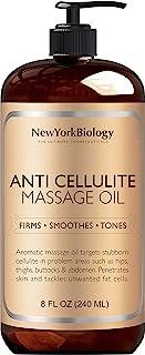 New York Biology Anti Cellulite 护理按摩油 天然成分 快速渗透肌肤 8盎司/240毫升
