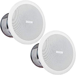 QSC 4 英寸(约 10.2 厘米)天花板扬声器 70/100 带 8ohm 旁通,W/ 安装Hw