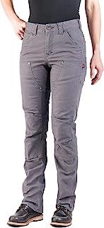Dovetail 女式工装裤:Britt 实用直筒修身弹力工装裤 - 有牛仔布或帆布可供选择
