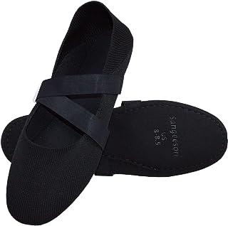 女式芭蕾舞鞋/拖鞋,全鞋底弹力舞鞋