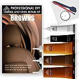 棕色皮革修复套件 - 乙烯基修复套件,皮革修理套件,家具修理套件 - 皮革划痕修复适用于室内装饰、长椅、船只、汽车座椅的…