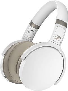 Sennheiser 森海塞尔 HD 450BT 蓝牙 5.0 无线耳机,带主动降噪功能 - 30 小时电池寿命,USB-C 快速充电,虚拟助理按钮,可折叠 - 白色
