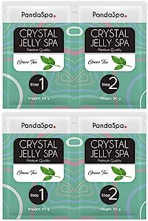Pandaspa 水晶果冻 适用于修脚 水疗脚浴 浸泡和去角质*的脚 - 绿茶(2 套)