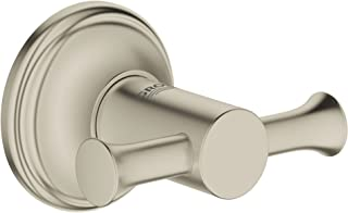 Grohe 高仪 40656EN1 Essentials 正品浴袍挂钩,拉丝镍InfinityFinish