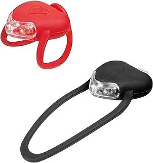 DEKIT – 自行车前后硅胶 LED 自行车灯套装 – 3 个高强度多功能防水前照灯和尾灯,确保骑行*