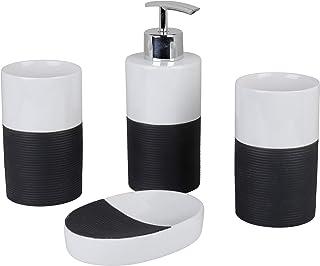 Axentia 浴室套装,灰色/白色,约 22 x 18.6 x 8.6 厘米