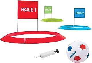 Franklin Sports 儿童足球高尔夫套装,带 1 个足球和 3 个带旗帜的目标 - 50.8 厘米目标