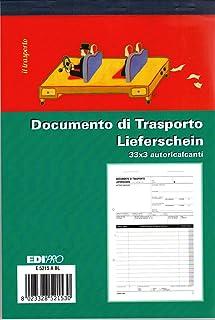 EDIPRO - E5215ABL - 运输文件块 33x3 自动。 f.to 12x17.5 - BILINGUE
