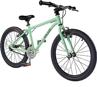 BELSIZE 50.8 厘米皮带驱动儿童自行车,轻质铝合金自行车(仅 15 磅)适合 7-10 岁 - 银色/薄荷绿