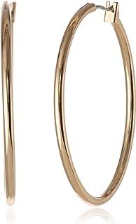 Anne Klein 安妮克莱因经典金色薄环状耳环