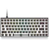 Galaxy 75 模块化机械游戏键盘 - 75% 布局 - USB Type C - 全铝底盘(Barebone,黑色…