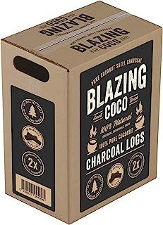 Blazing Coco Premium 20 磅椰子壳炭原木 - *高端烧烤