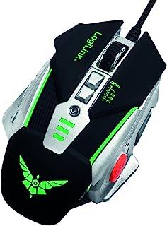 LogiLink ID0156 USB 游戏鼠标,额外重量和光学高精度传感器黑色