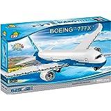 COBI 26602 波音777X(625个)积木玩具,白色,蓝色