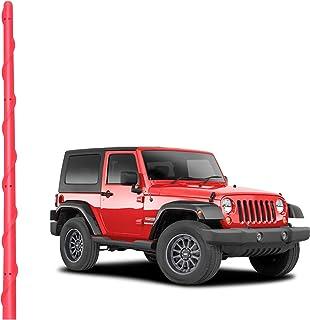 VOFONO VOFONO 13 英寸(约 33 厘米)红色天线兼容 Jeep Wrangler 2007-2021