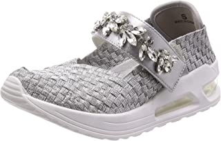 [橡胶] 运动鞋、芭蕾舞鞋 宝石带的气垫鞋