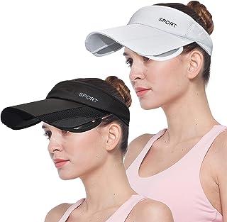 女式运动遮阳帽男式宽帽檐可调节夏季高尔夫网球帽防紫外线帽