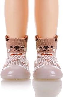 婴儿学步鞋袜子防滑透气软 TPE 鞋底地板拖鞋室内户外冬季保暖婴儿鞋袜子