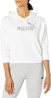 PUMA 女式宽松型 Ess+ Metallic Cropped 连帽衫