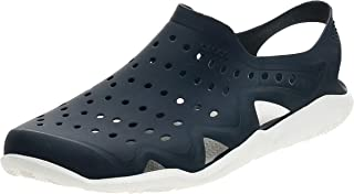 crocs 卡骆驰 Swiftwater Wave 男士平底洞洞凉鞋
