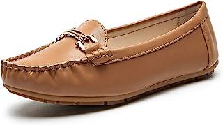 舒适可折叠一脚蹬乐福鞋软皮鞋驾驶和步行平底鞋加垫内底鞋适合女士 AVE