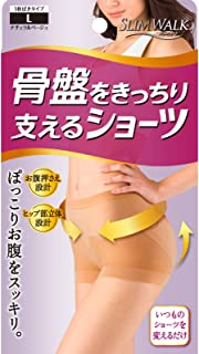 SLIM WALK 短裤内裤 支撑骨盆 L 天然米色