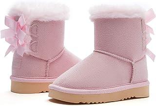 Weestep 幼童保暖毛皮冬季平底雪地靴鞋