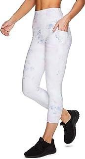 RBX 活跃女式季节性印花七分裤长瑜伽打底裤