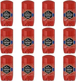 Old Spice 红色系列船长香味男士隐形固体止汗香体膏,2.6 盎司(12 支装)