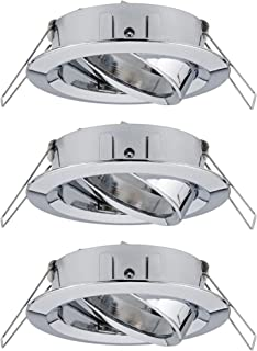 Paulmann 柏曼 92488 Choose 嵌入式灯 射灯 可旋转 *大 3 × 10 W 天花板嵌入式射灯 镀铬 嵌入式灯 铝
