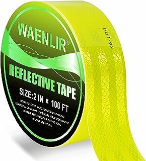 DOT-C2 2 英寸 x 100FT 高强度荧光黄色反光带 - *显眼胶带 适用于拖车、车辆、卡车、自行车、货物、头盔