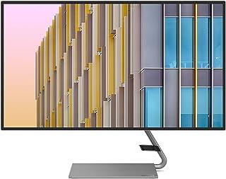 Lenovo 联想 Q27h-10 68.58 厘米(27 英寸,2560x1440,WQHD,75 Hz,WideView,防反射)显示器(HDMI,DisplayPort,4 毫秒响应时间,AMD Radeon FreeSync)灰色
