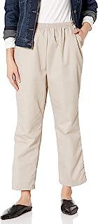Chic Classic Collection 女式棉质松紧带长裤 卡其色斜纹布 8 Petite