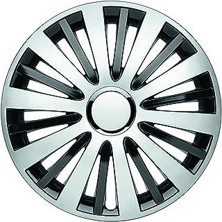 Albrecht 49605 Falcon Twilight Gloss 银色/黑色 15 英寸(约 38.1 厘米)车轮罩(4 件套)