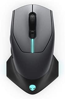 Alienware 有線/無線游戲鼠標 AW610M:16000 DPI 光學傳感器 - 350 小時可充電電池壽命 - 7 個按鈕 - 3 區 Alienfx RGB 照明