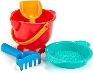 Hape 沙滩 BASICS 沙玩具套装含桶 sifter rake 以及铲子玩具