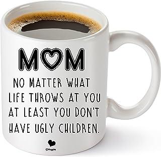 Muggies Mom Ugly Children Funny 311.84 克个性化咖啡/茶杯,适合母亲和妻子,独特的趣味礼物,适合她的生日、圣诞节、母亲节。