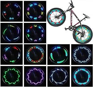 自行车车轮灯(2 个轮胎套装) - 自行车车轮灯超亮 14 个 LED - 30 种不同的模式,从各个角度可见变化 - 儿童成人*自行车配件 - 易于安装